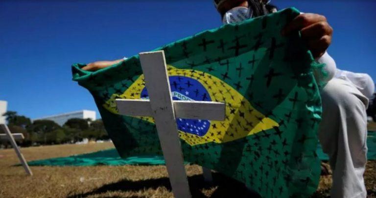 COVID-19: Brasil supera las 100 mil muertes y los 3 millones de contagios