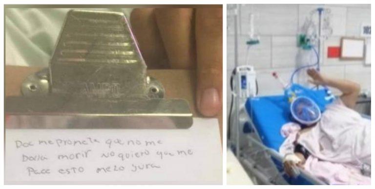 «No me deje morir», clama paciente grave de COVID-19 a médico del HE