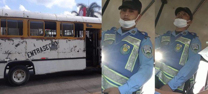 Policías que arrojaron gas lacrimógeno en bus