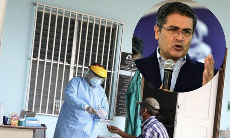 «Esta es Honduras con hechos», dice JOH en inauguración de triaje en Yoro
