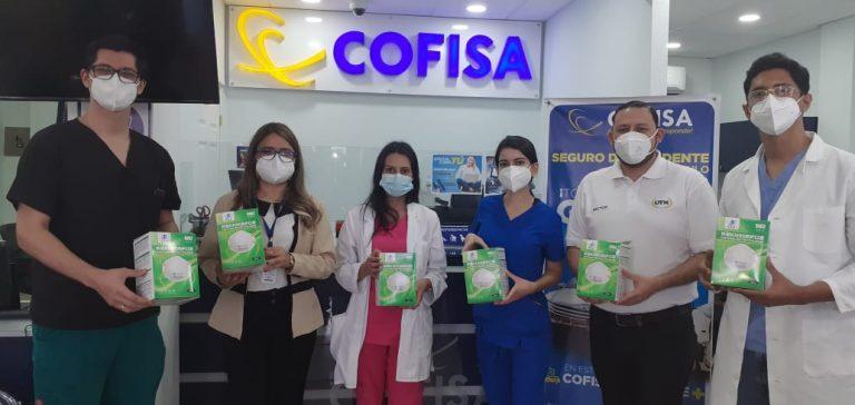 COFISA dona equipo de bioseguridad a médicos en formación