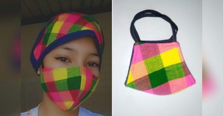 Cane, La Paz: maestra crea nueva moda de mascarillas con diseño lenca