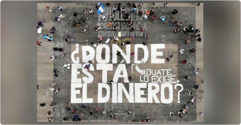 """¡Trasciende fronteras! Guatemala replica el mensaje: """"¿Dónde está el dinero?"""""""