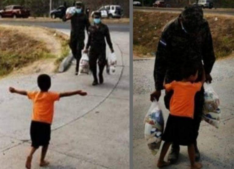 Honduras: regalan casa al niño que se hizo viral con efusivo abrazo a militar