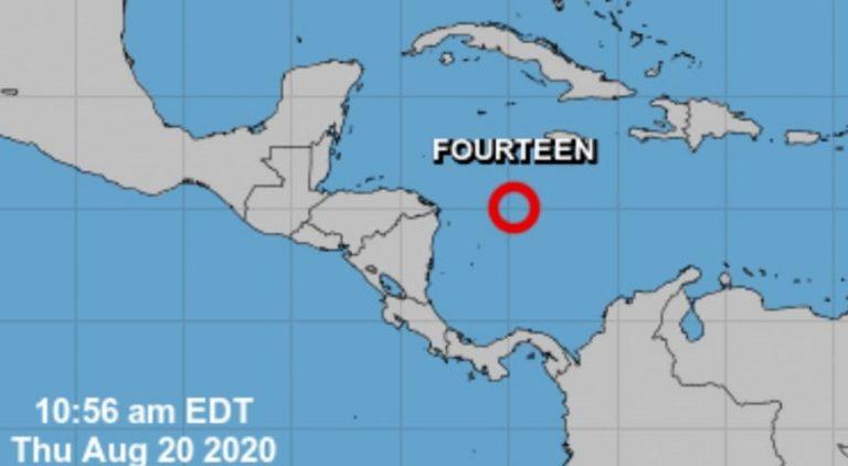 NHC: Depresión tropical está a 375 kilómetros de Gracias a Dios