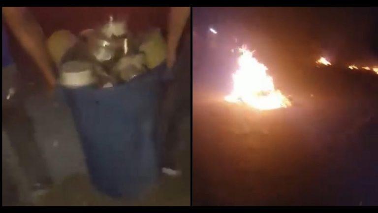 Hartos de cortes: residentes de El Carmen «arrancan» e incendian contadores