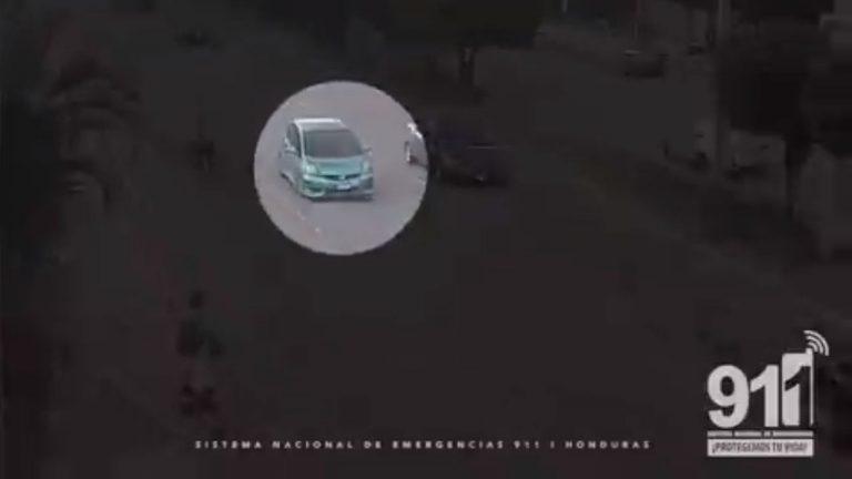 VÍDEO| Así dieron con un vehículo que lanzó cadáver embolsado en TGU
