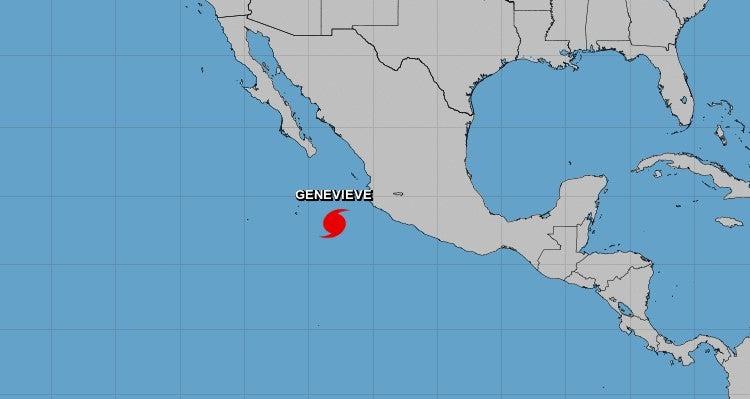 Genevieve: De tormenta tropical a huracán categoría 4 en un día