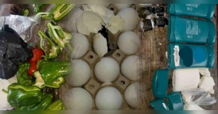 Choluteca: adentro de huevos y chiles, pareja pretendía meter droga a cárcel