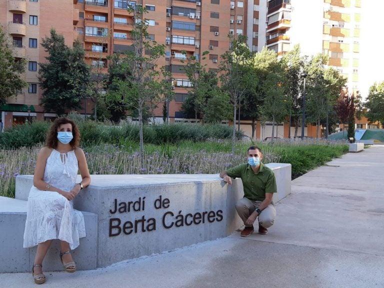 ¡Honor! Inauguran jardín en España con el nombre de Berta Cáceres