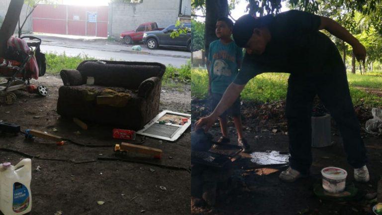 SPS: papá soltero y su hijo, desalojados y viviendo en calle, a causa de pandemia