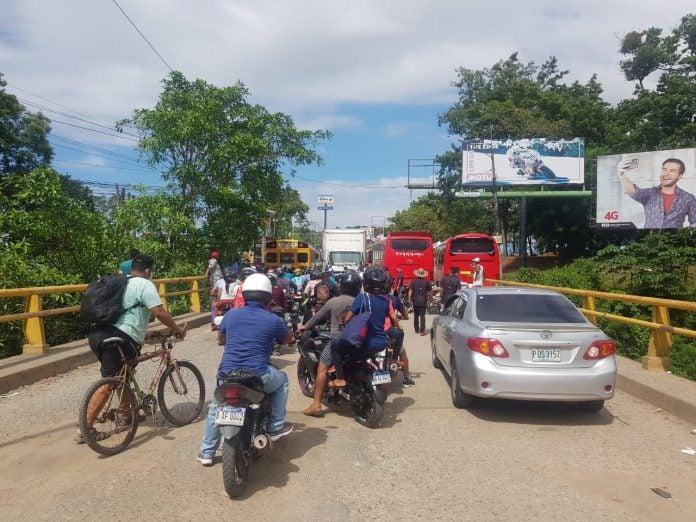 La Ceiba protestas transportistas