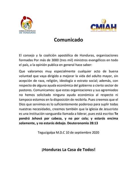 Comunicado de CMIAH