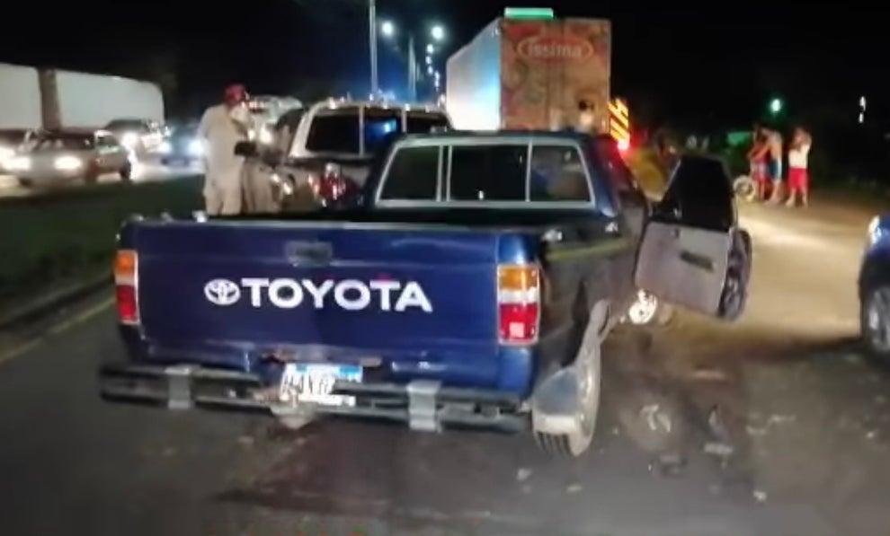 cinco vehiculos chocan en la carretera CA-5