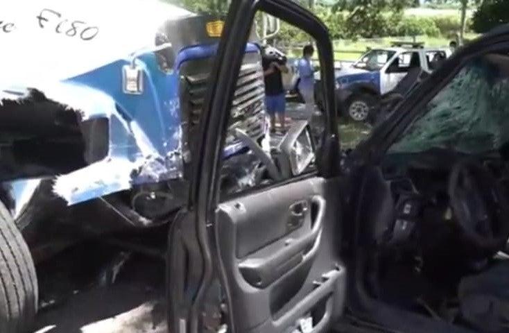 Accidente en Zamorano