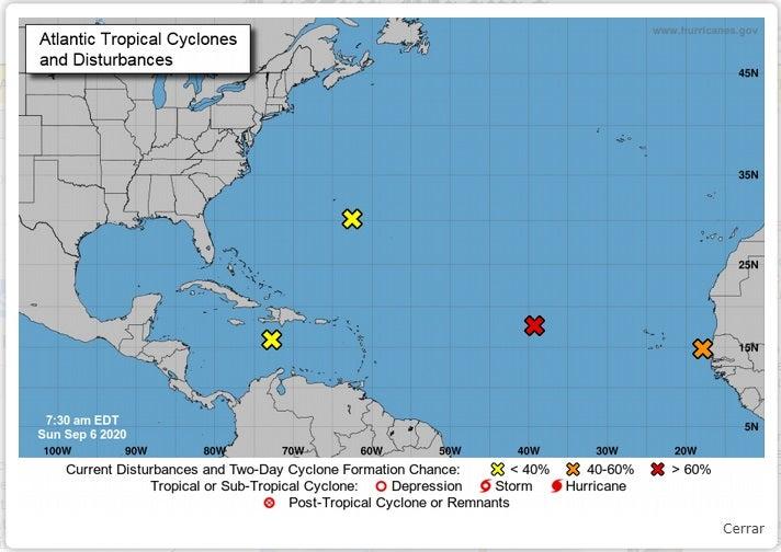Tres nuevas ondas tropicales se avistan en el Mar Caribe y el Golfo de México