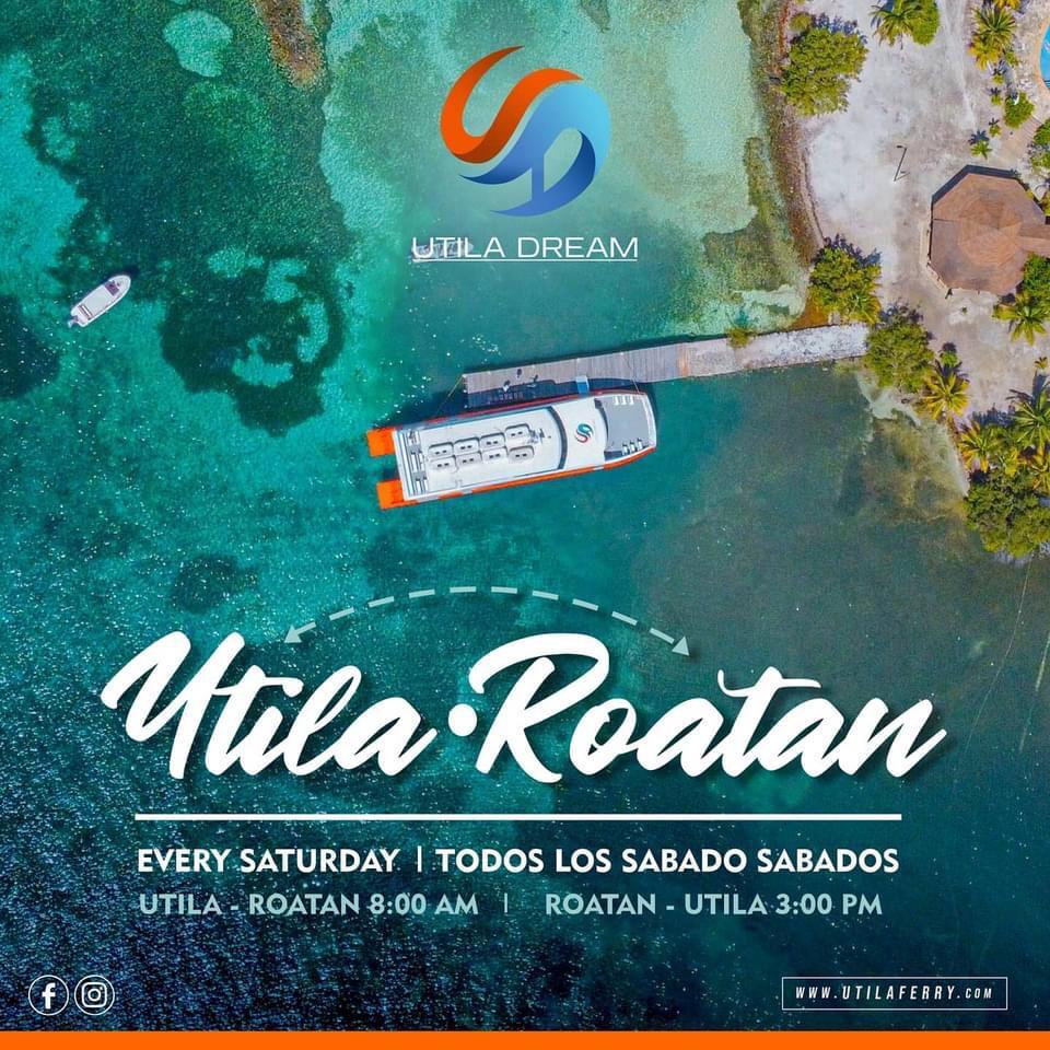 ferry de Utila hacia Roatán