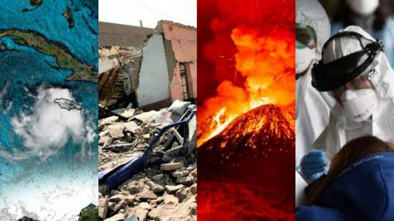 Panorama mundial de fenómenos: Tormentas, sismos, erupciones y pestes