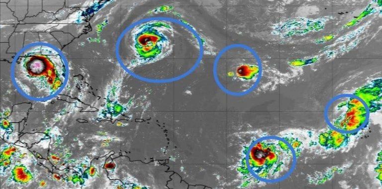 ¡Siete fenómenos en el Atlántico simultáneamente! ¿A quiénes afectarán?