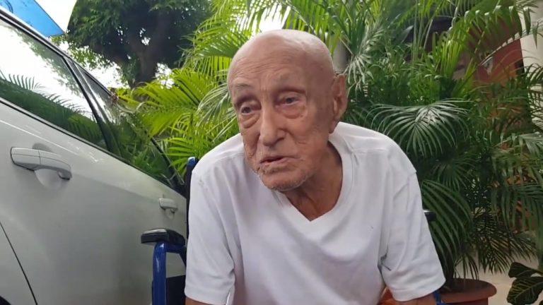 Choluteca: Tras una semana interno, anciano de 105 años vence la COVID-19