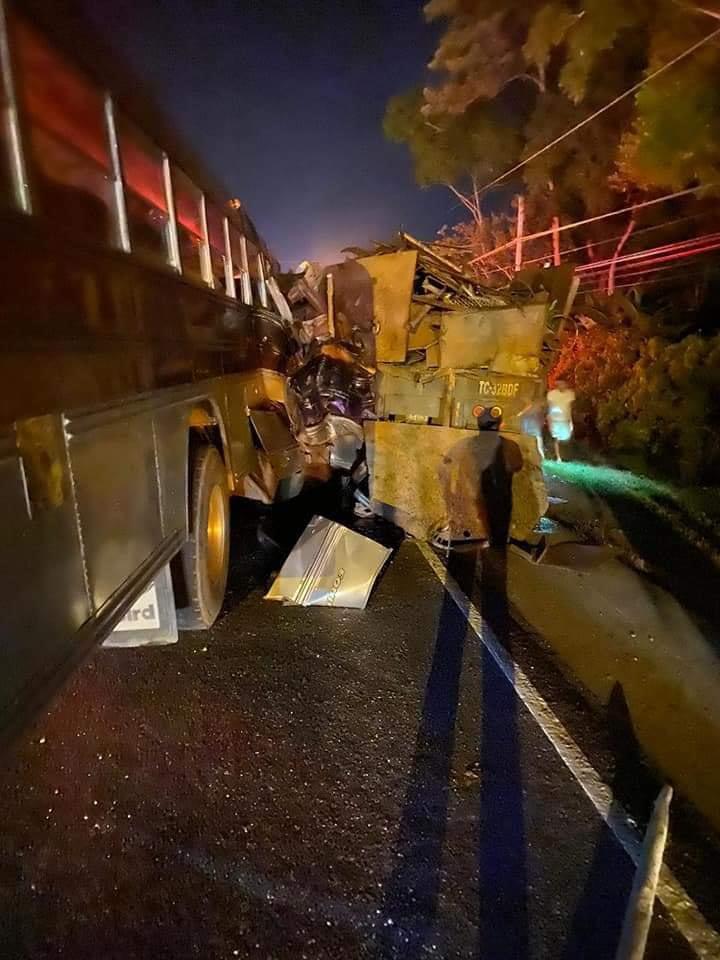 Accidente de tránsito en Omoa