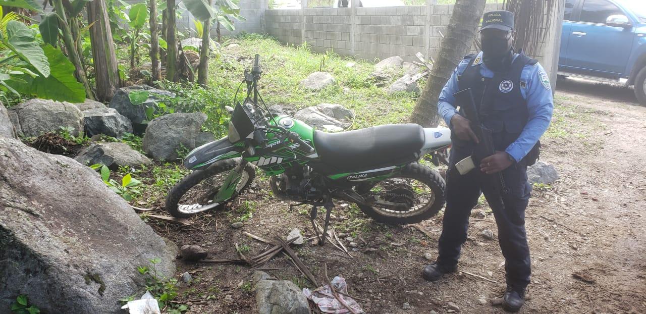 Esa fue la motocicleta encontrada.