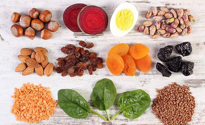 alimentos ricos en hierro contra la anemia