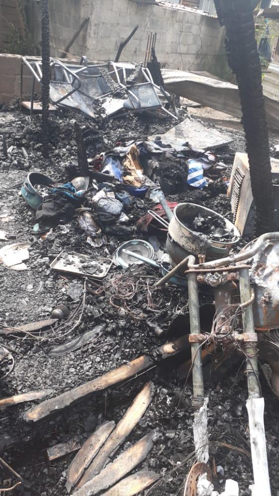 Casa incendiada en SPS