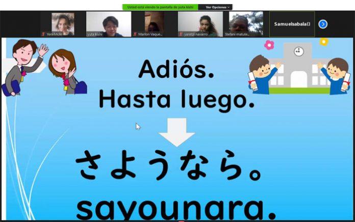 Japonés imparte clases virtuales de su idioma natal a niños hondureños