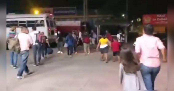 caravana de migrantes en choluteca