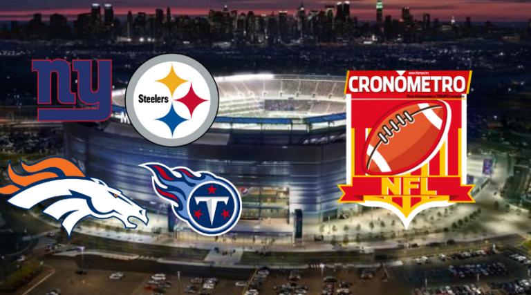 Primer Monday Night Football: Giants vs. Steelers y Broncos vs. Titans