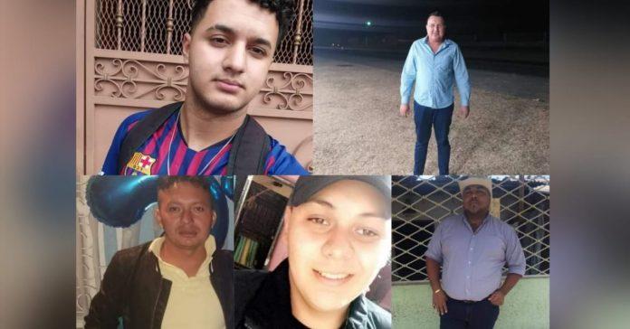 cinco muertos en El Pedregalito