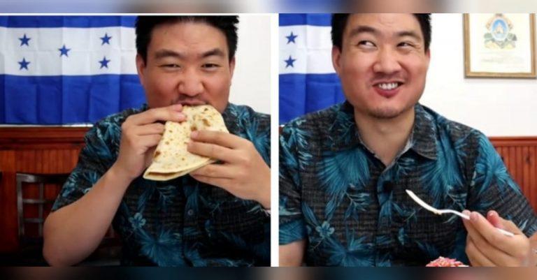 """¡Wow! ¡Esto está bueno!"": Popular youtuber prueba la comida hondureña"