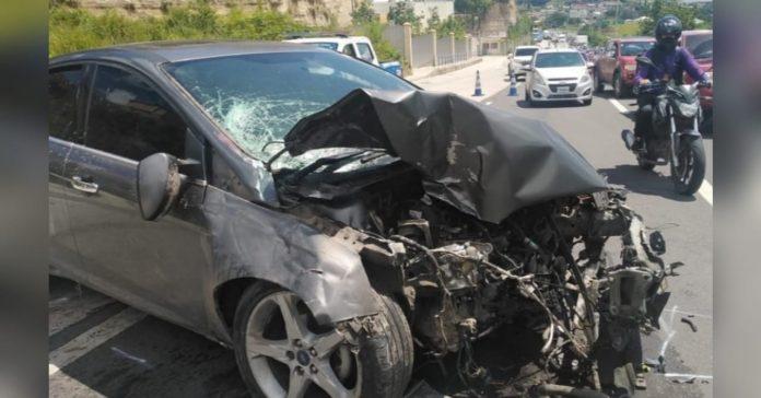 choque de cuatro vehículos en Anillo Periférico