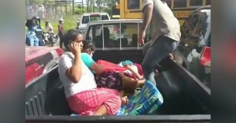 Olancho: mujer da a luz en la paila de un vehículo ante protestas en la carretera