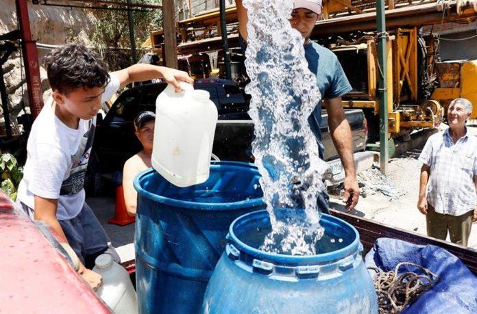 distribución de agua sanaa
