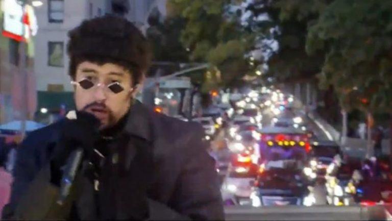 Bad Bunny paraliza NY: ofreció concierto desde el techo de un camión en marcha