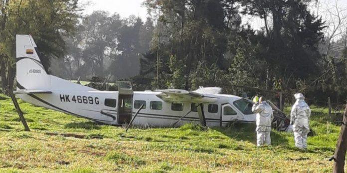 avioneta accidentada en colombia