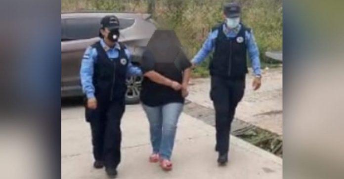 capturan a mujer robaniños en comayagüela