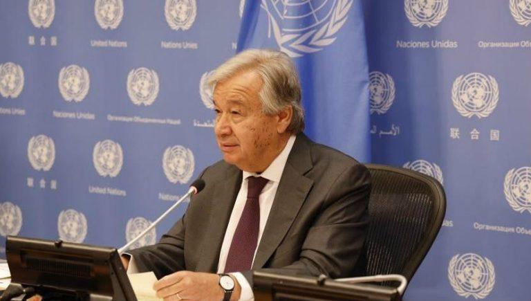 «Brote de coronavirus está fuera de control», según secretario general de la ONU