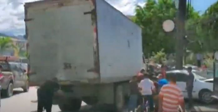 Camión sin frenos en Copán
