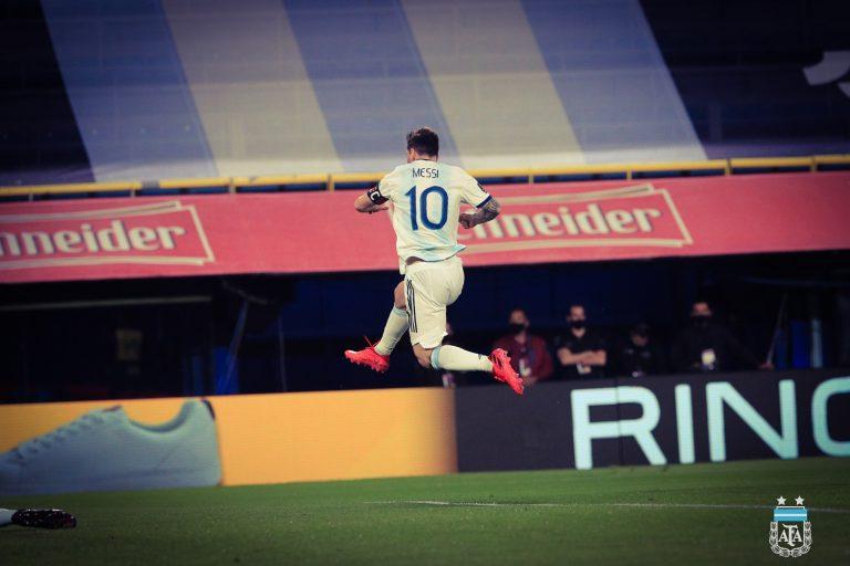 Con solitario gol de Messi, Argentina inicia con victoria las eliminatorias