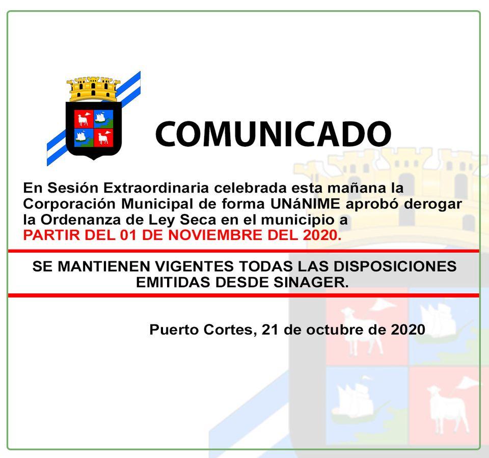"""Puerto Cortés """"Ley Seca"""""""
