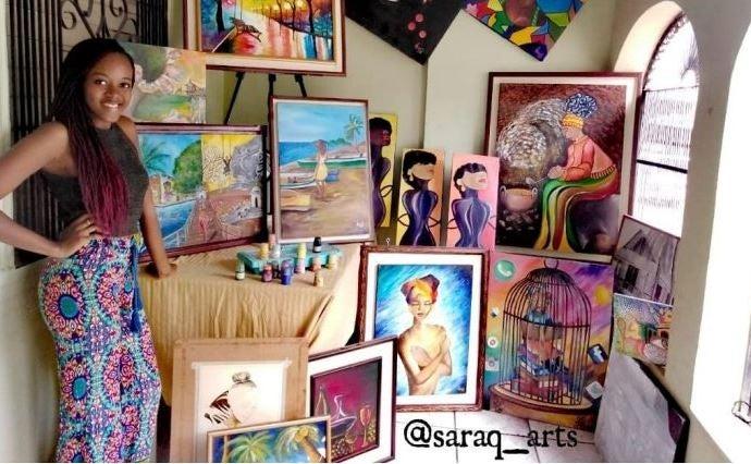 Sarahí Quevedo artista garífuna