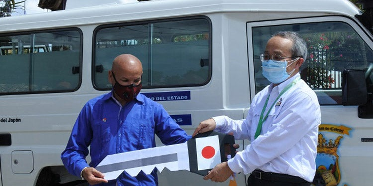 Llave en mano: Japón dona ambulancia e insumos a municipio de Cedros