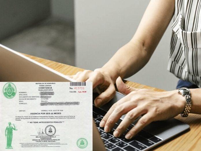 pasos solicitar antecedentes penales línea