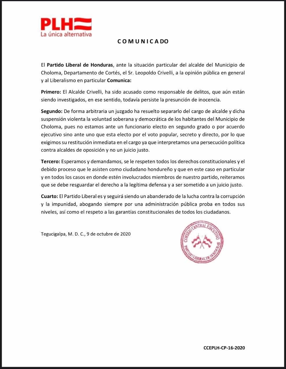 restitución Leopoldo Crivelli