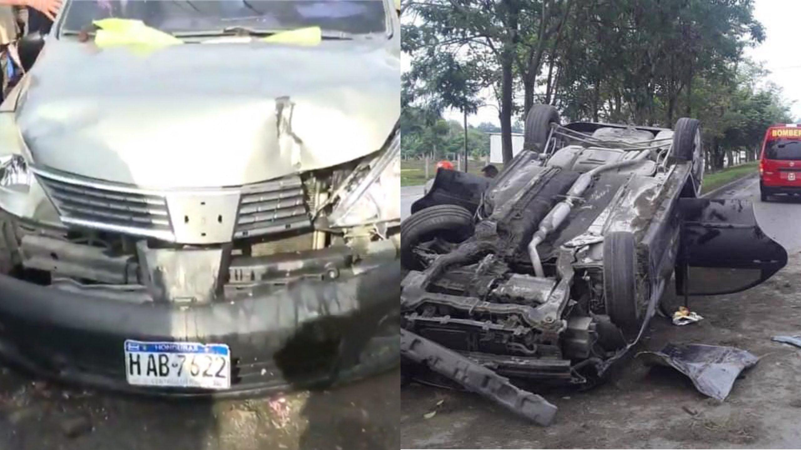dos Accidentes en barrio Medina y Choloma