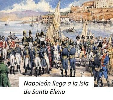 Napoleón llega a la Isla de Santa Elena