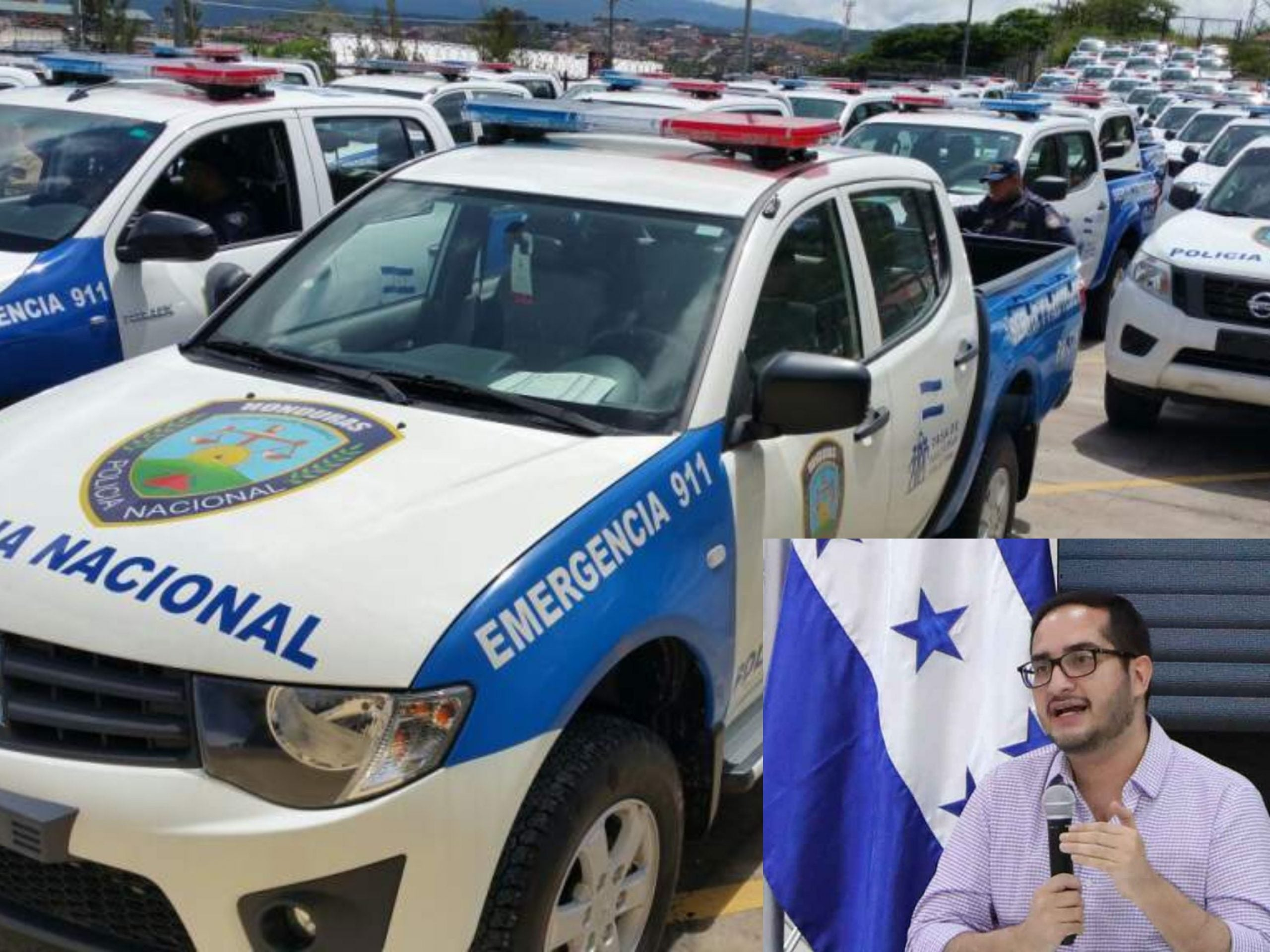 policía combustible patrullas
